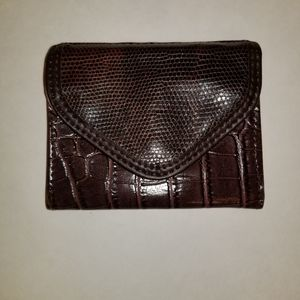 Faux skin small wallet